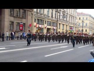 День города в СПб 2013. Шествие военных оркестров разных стран.