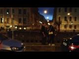 Рома Раев читает фристайл из люка машины по Питеру (при участии iStreet music band)